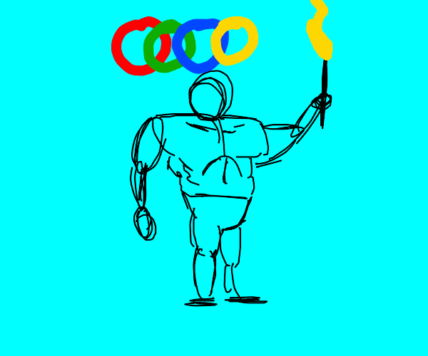 Olympics bodybuilder