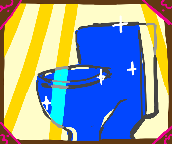 What's this!? It's an epic blue toilet!