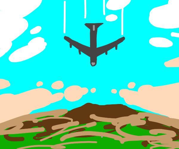 Descending American B52