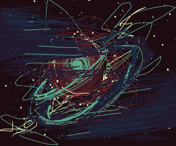 Supernova in a cosmic dust cloud