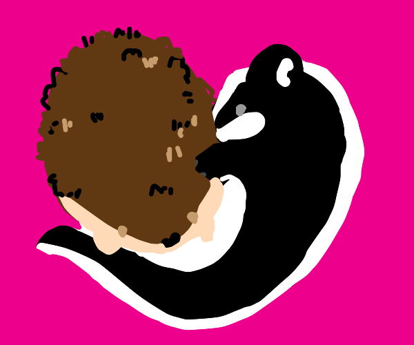 Hedgehog and skunk are in love