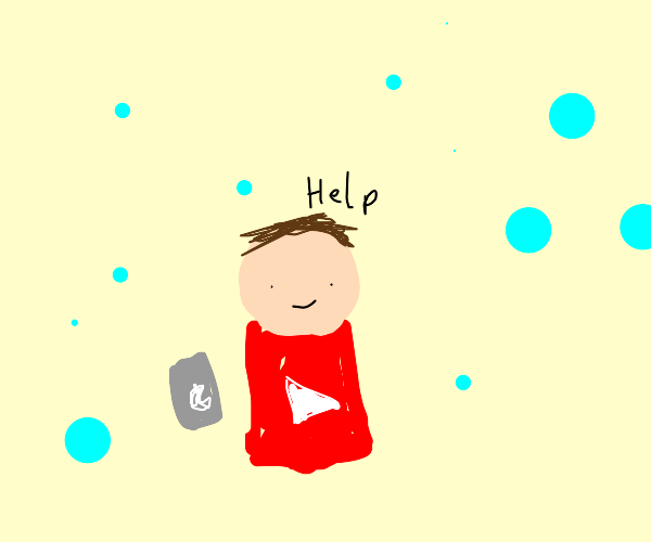 YouTuber in a Hailstorm