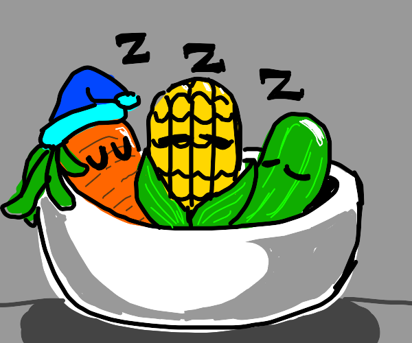 sleeping veggies