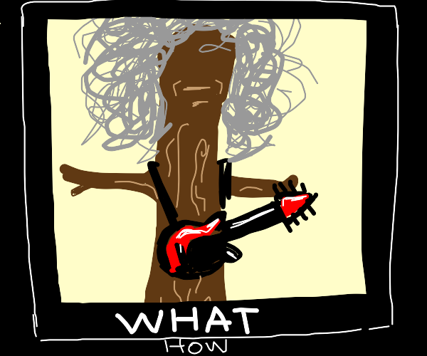 Brian May has been turned into a Tree