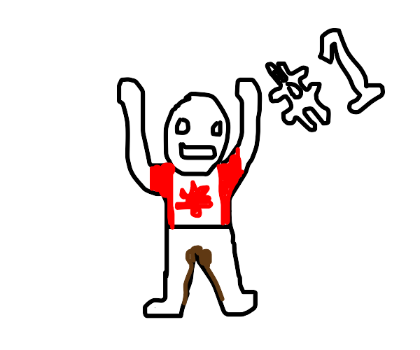 number one canadian who pooped his pants