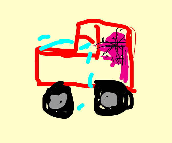 sad car thing with a giant brain