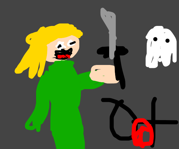 A killer Laughing at a ghost