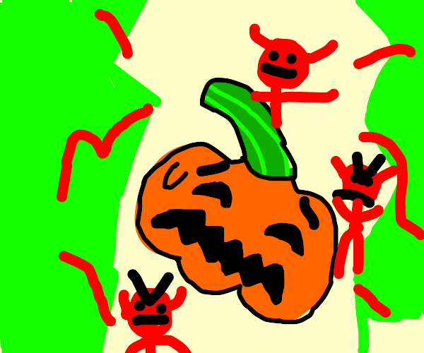 Pumpkin goes to Hell