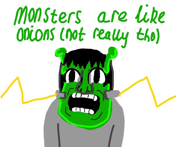 Shrek and frankenstien's monster