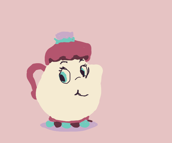 The teapot lady from beauty and the beast