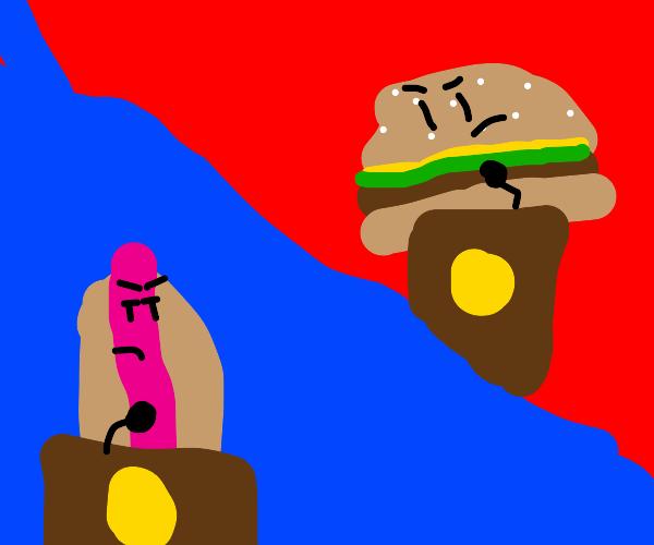Hotdog or hamburger? (I vote hotdog)