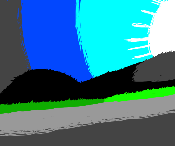 Sun shining on sidewalk