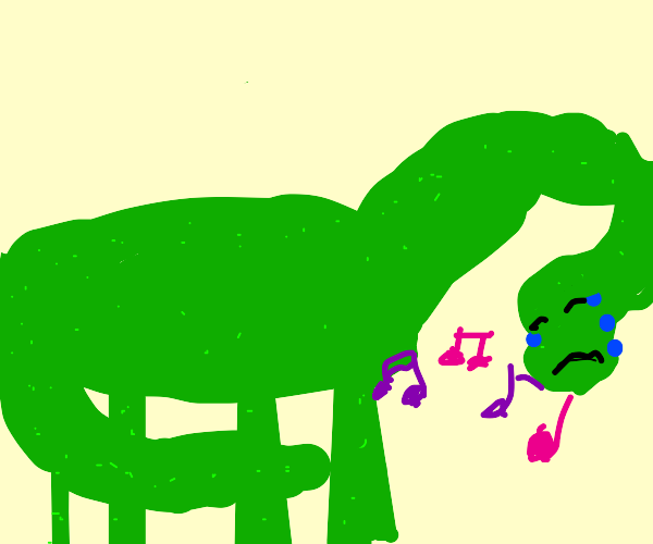 A Sad Dinosaur singing