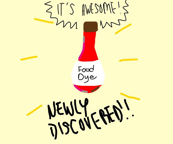 scientific breakthrough is just food dye