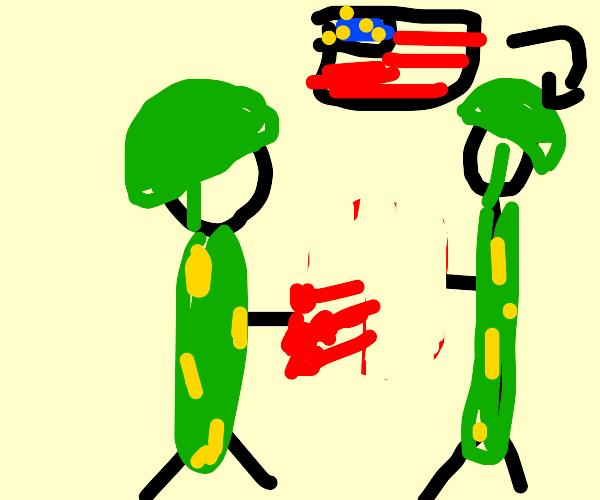 Generic army man hands USA army man TNT