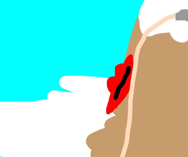 Lipstick crossing a River