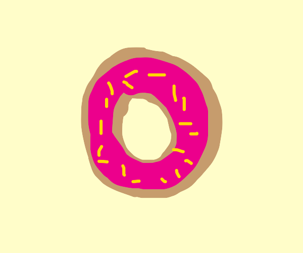a pink donut