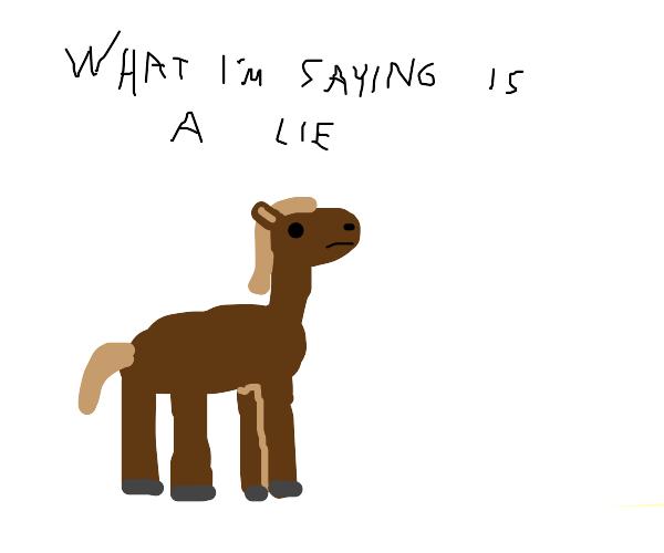 horse saying a paradox