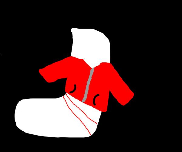 Socks wearing a Coat