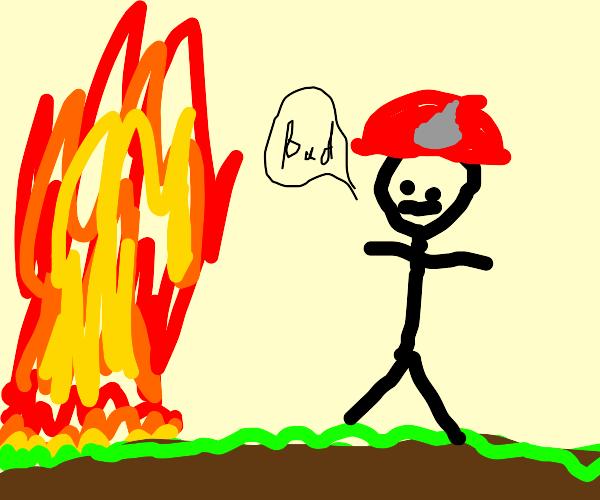 Fireman says fire is bad