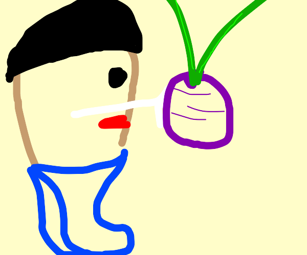 Mr. Potato Head hugging a Radish
