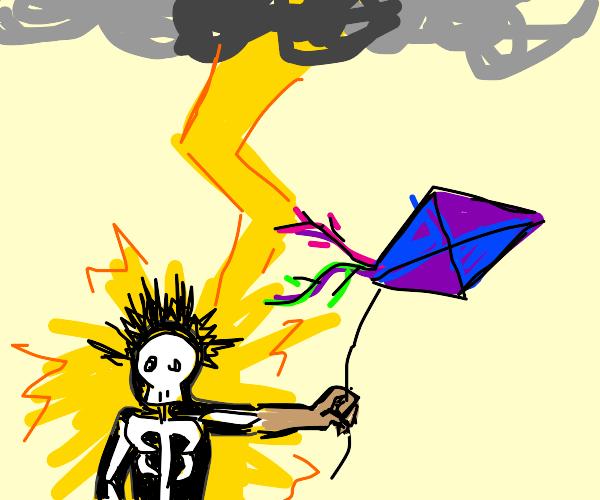 Lightning strikes me not the kite