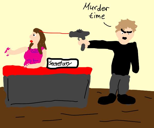 killing a female secretary