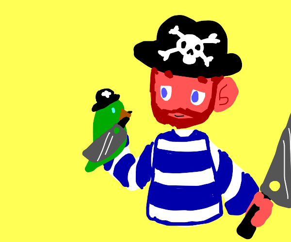 Pirate with large cleaver