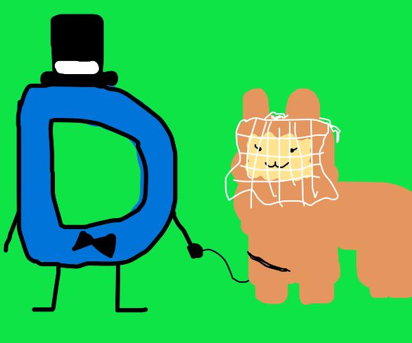 A D marrying a llama.