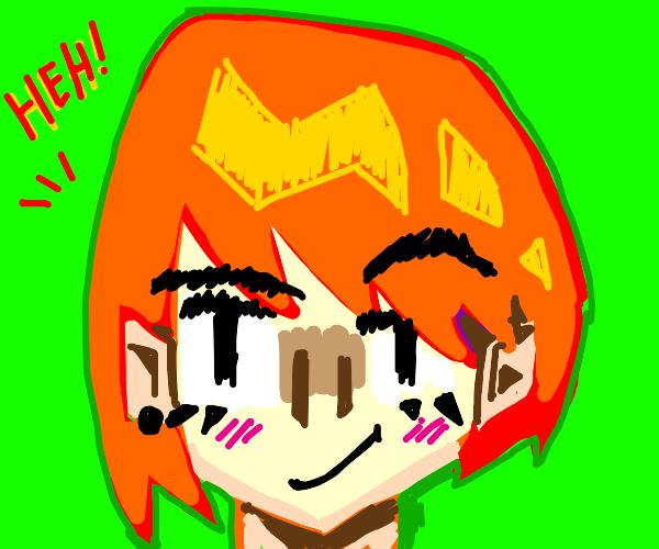 Smirking Anime Redhead