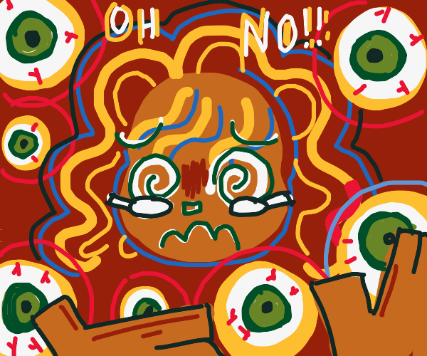 Person drowning in eyeballs (Oh no)