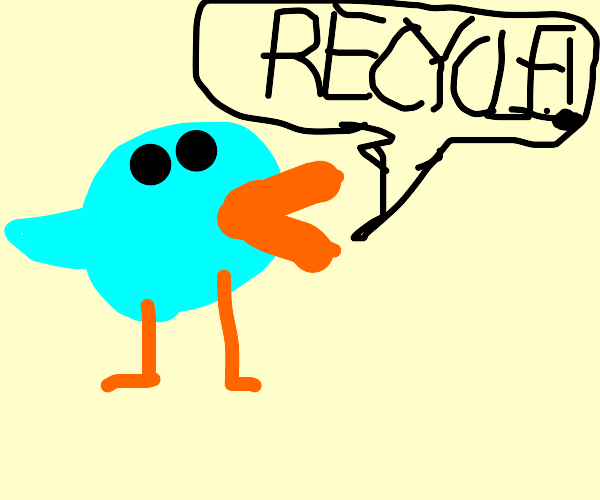 Bird Wants you to Recycle