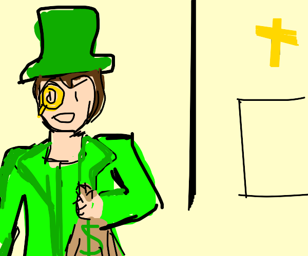 french man in green steals charity money