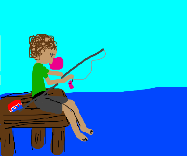 Fishing with bubble gum