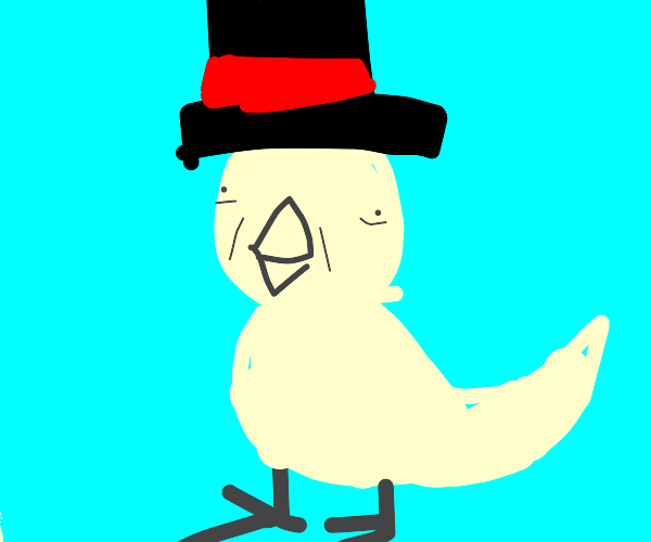 Ugly Duckling wearing a Top Hat