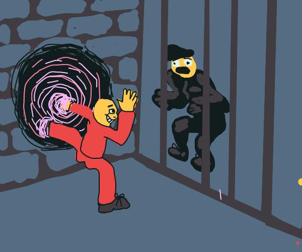 Man uses black hole to escape prison