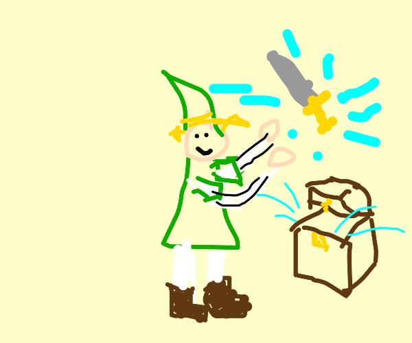 link finds treasure