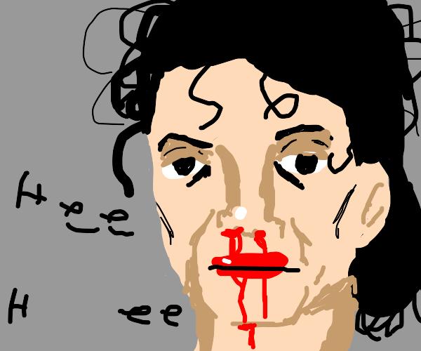 michael jackson anime nosebleed