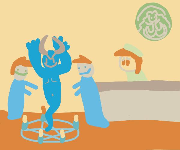 demon summoning at the coffee shop??,