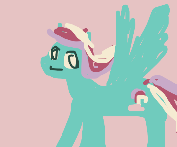 That one rainbow smurf pony (mlp)
