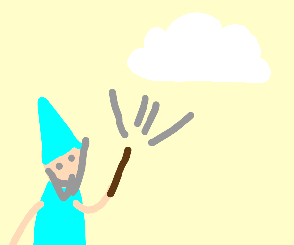 wizard makes cloud