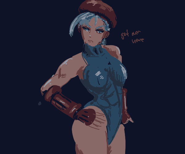 Cammy (Street Fighter) poses for the camera