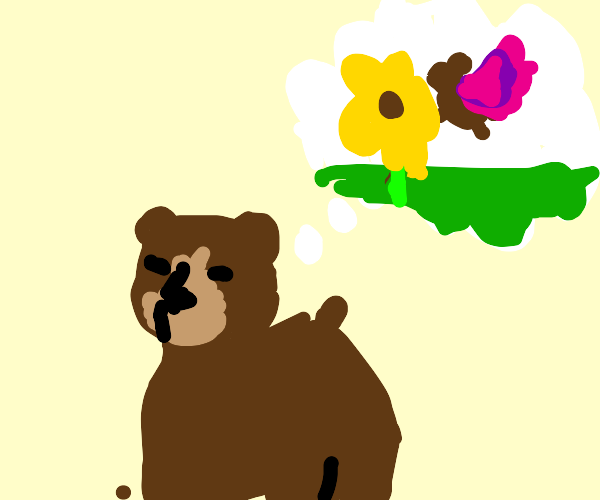 bear wants to be a majestic butterfly bear