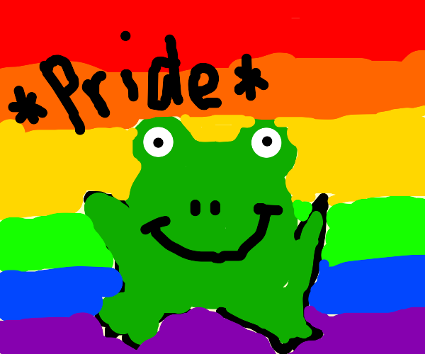 Lgbt frog