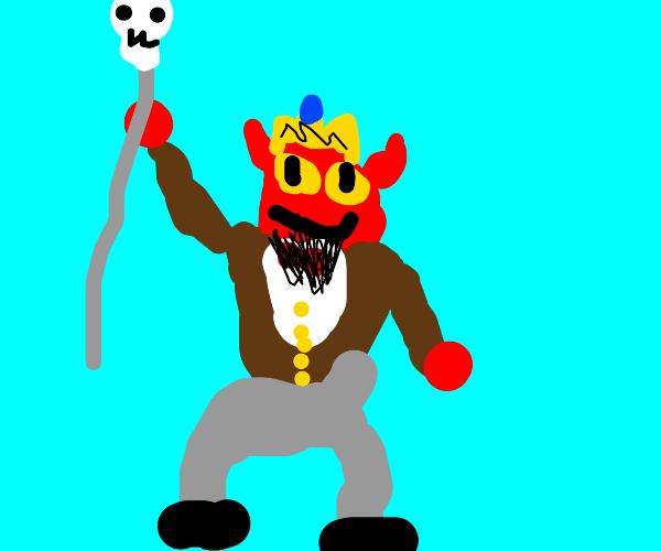devil king in formal clothes