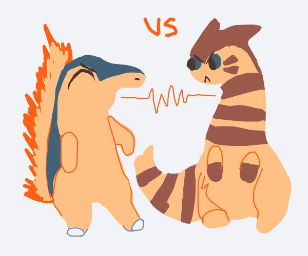 Cyndaquil vs. Furret