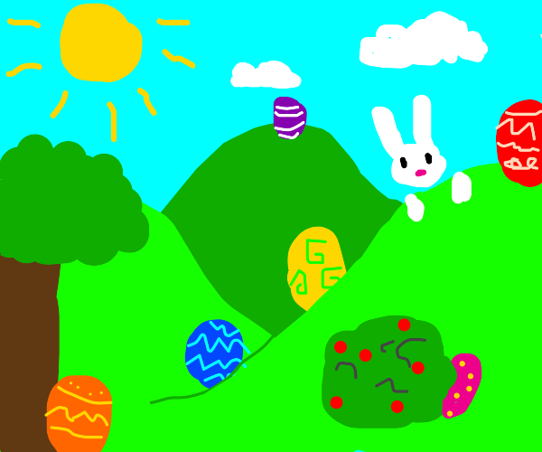 EASTER!! Easter egg hunt!! Very colorful