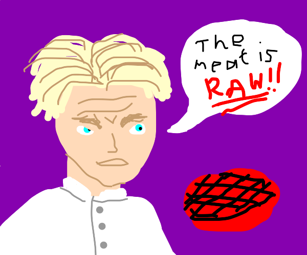 gordon ramsey is mad bc the meat is raw