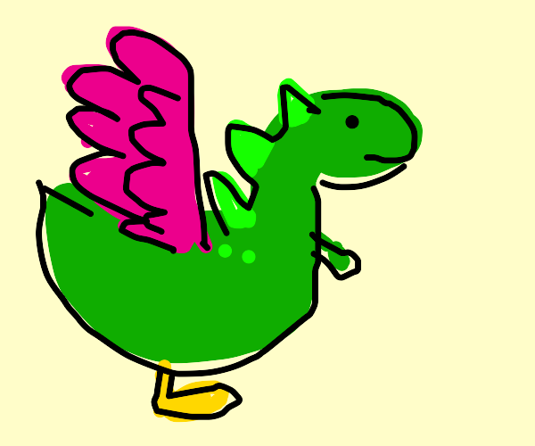 flappy bird crossed with some dinosaur
