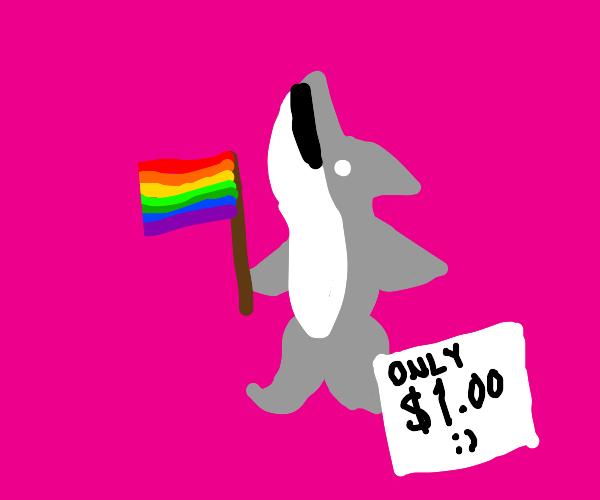 Gay Shark Figurine :) $1 Dollar!